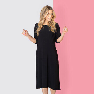 NICOLE Collection Straight Hem Pocket Stretch Dress Size S,M,L,XL BNWT 4 Colours • 14.99£