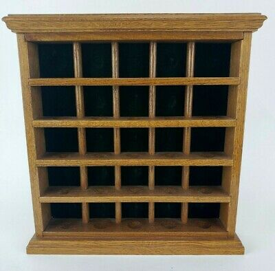 Golf Ball Display Case Cabinet Oak Wood Holds 25 Golf  Balls In Great Condition. • 25.33£