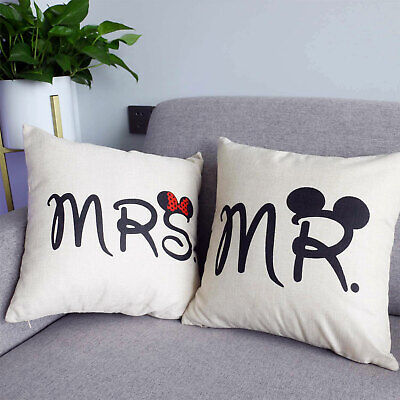 Printed Wedding Gift Disney Cushions 18  X 18  Filled / Couple Cushion Covers  • 10.99£