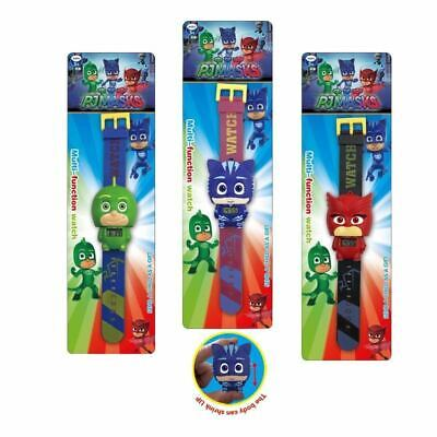 PJ Masks Catboy Owlette Gekko Doll Figures Digital Set Wrist Watch Kids Toy Gift • 3.25£
