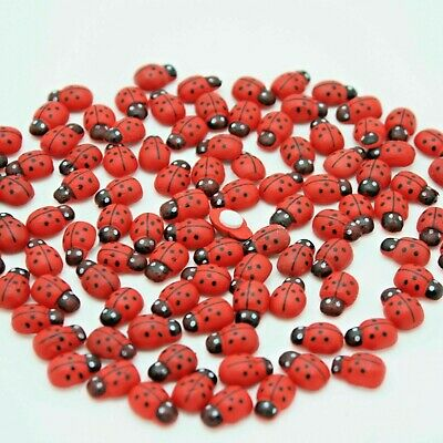 Self Adhesive Stickers Wooden Ladybirds Ladybugs Cute Card Toppers 3d Decor Bug • 2.50£