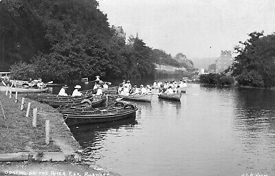 £22 • Buy Ruswarp Nr Whitby Boating On The River Esk C1911 By J T Ross