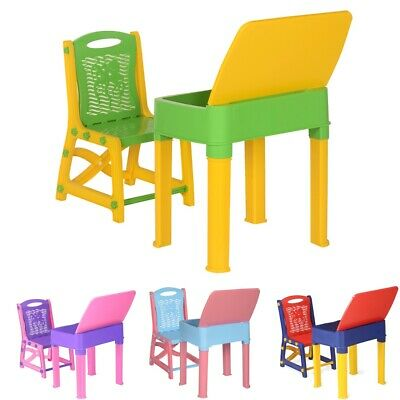 £26.99 • Buy Kids Study Table And Chair Set Children Study Desk Toddler Chair And Table