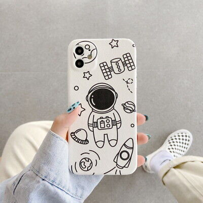 AU5.26 • Buy Cute Astronaut PU Lambskin Soft Case Cover For IPhone 12 11 Pro Max XR XS X 8 7