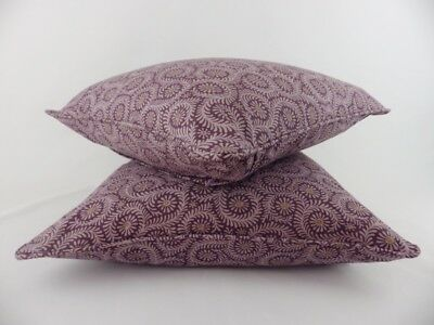 2 Designer GP & J Baker Foxy Pillow Scatter Cushion Covers Purple Abstract Leaf  • 29.95£