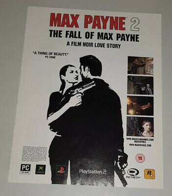 Max Payne 2 PS2 XBOX IBM PC Advert Poster Promotional Promo Ad • 5.99£