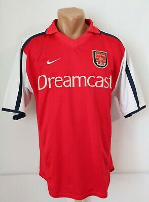 Arsenal 2000/2002 Home Football Shirt Soccer Jersey Top Dreamcast Nike Men's S • 79.99£