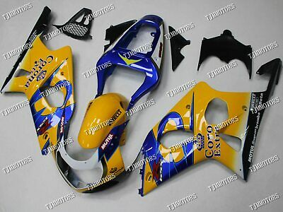 $485 • Buy For GSXR1000 00-02 ABS Injection Mold Bodywork Fairing Kit Yellow Corona Extra
