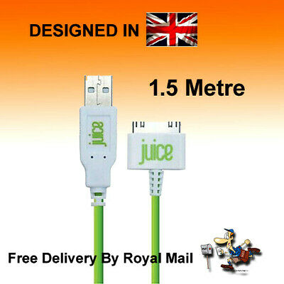 Juice USB 30 Pin Cable Charger Lead For Apple IPhone 4 4S 3 3GS IPod IPad 3/2/1 • 3.99£