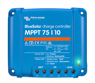 Bluesolar MPPT 75/10 Solar Charge Controller - Victron Energy • 69.95£