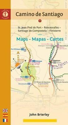 £20 • Buy Camino De Santiago Maps: St. Jean Pied De Port/Roncesvalles To Finisterre Via Sa