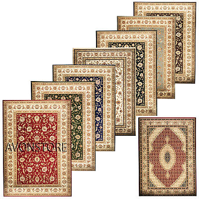 Non Slip Traditional Rugs Hallway Runner Floral Rugs Bedroom Living Room Carpets • 74.95£