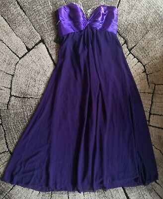 Grace Karin Purple Long Dress Prom Wedding Bridesmaid UK 18 • 29.90£