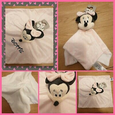 Personalised Keepsake Minnie Mouse Comforter Snuggle New Baby, Christening Gift  • 15£
