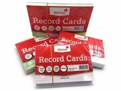£2.38 • Buy Revision/Flash/Index Silvine Record Cards - White/Ruled/Coloured FREE P&P