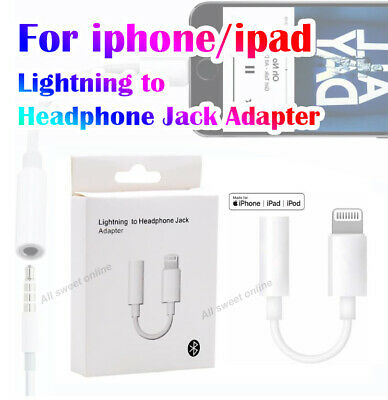 AU6.49 • Buy  Bluetooth Lighting To 3.5mm Headphone Audio Jack Adapter Cable For Iphone Ipad