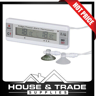 AU39.95 • Buy Dual Display Digital Thermometer For Fridge Freezer With Dual Probes QM7322