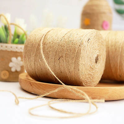 £5.49 • Buy 200m 3 Ply Natural Brown Soft JUTE TWINE Sisal String Rustic Cord Shabby
