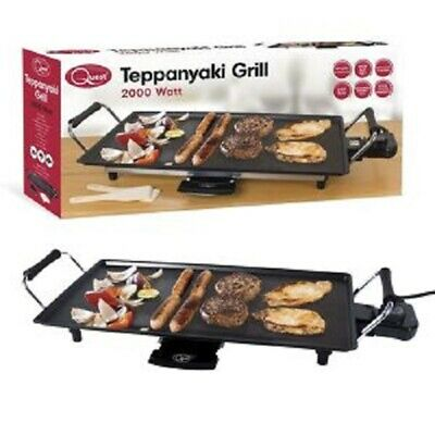 £31.99 • Buy Non-Stick Electric Teppanyaki Table Top Grill Griddle BBQ Barbecue Garden Camp