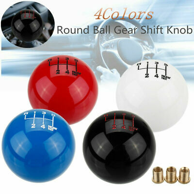 AU19.95 • Buy Universal 6 Speed Manual Black Round Ball Gear Shift Knob Lever Reverse Left Up