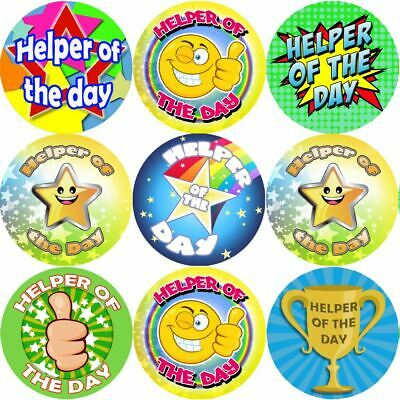 144 Helper Of The Day 30mm Children's Reward Stickers For Teachers And Parents • 2.69£