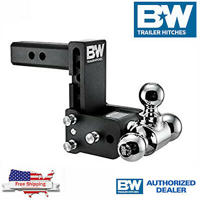 $ CDN299.41 • Buy B&W Tow & Stow Hitch Adjustable Tri Ball 5  Drop 5 1/2 Rise For 2  Receiver