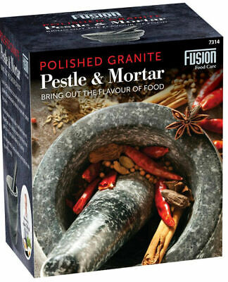 £18.99 • Buy Large Pestle And Mortar Set Natural Spice & Herb Crusher Grinder Durable Stone