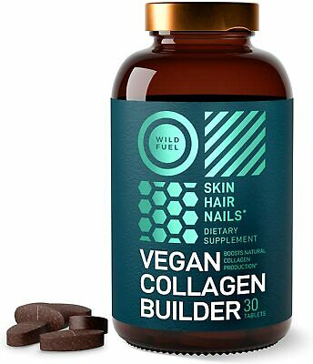 $17.99 • Buy Vegan Collagen Builder Skin Hair Nails And Flexible Joints Support Biotin USA