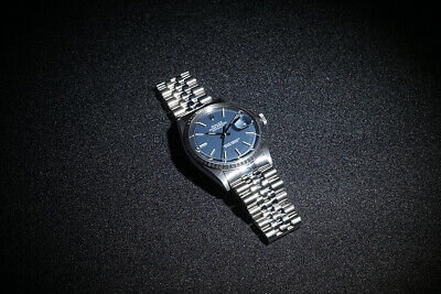 $ CDN6011.41 • Buy Rolex Oyster Perpetual Datejust 1603 36mm Stainless Steel Blue Dial Men's Watch