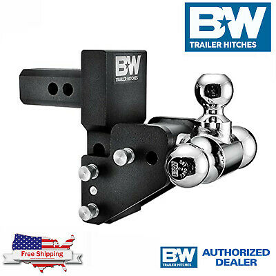 $ CDN392.03 • Buy B&W Tow & Stow Adjustable 2.5  Drop Tri Ball Hitch Fits GM Multi Pro Tailgate