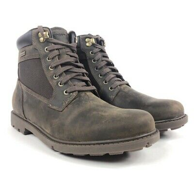 Rockport Rugged Bucks Waterproof High Boots Mens 10 Brown Leather Ankle V80795 • 37.85£