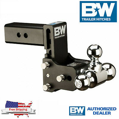 $ CDN392.03 • Buy B&W Tow & Stow Magnum 7  Adjustable Hitch Tri Ball Mount With 2.5  Receiver