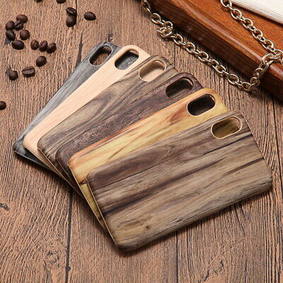 Vintage Natural Wooden Textured Case Ultra Slim Cover For Iphone XR XS Max 7 8 • 5.39£