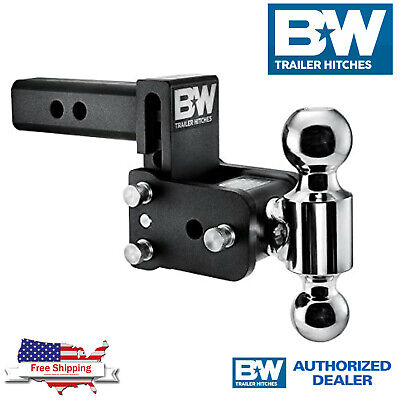$ CDN285.46 • Buy B&W Hitches Tow & Stow 5  Adjustable Dual Ball Mount Receiver Hitch TS10037B