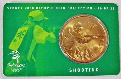£10.68 • Buy Sydney 2000 Olympic Games  SHOOTING  $5 Coin On Card Of Issue    UNC