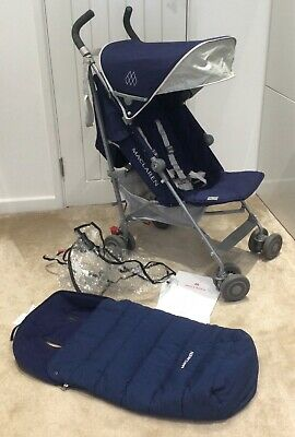 View Details Maclaren Quest Pushchair Buggy Stroller Blue Immaculate Condt & Cosy Toes • 100.00£