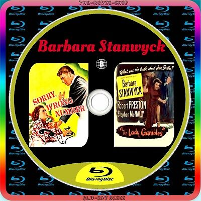 £4.45 • Buy Barbara Stanwyck Sorry, Wrong Number/The Lady Gambles 1940s X2 Blu Ray