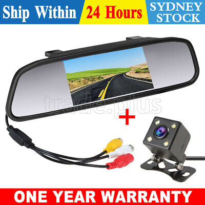 AU37.95 • Buy Reverse Camera Night Reversing Camera Rear View Mirror Kit Waterproof HD Monitor