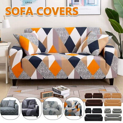 AU22.59 • Buy Sofa Covers 1/2/3/4 Seater High Stretch Lounge Slipcover Protector Couch Cover A