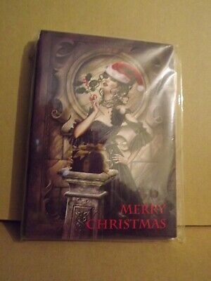 Pack Of 12 Alchemy Gothic Lady Christmas Cards 2 X Design 6 Of Each + Envelopes • 5£