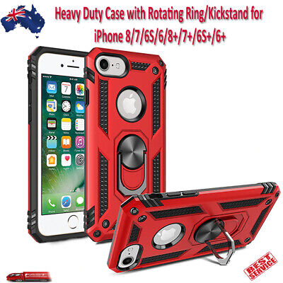 AU12.99 • Buy Heavy Duty Case With 360° Rotating Ring Kickstand IPhone 8 7 6S 6 8+ 7+ 6S+ 6+