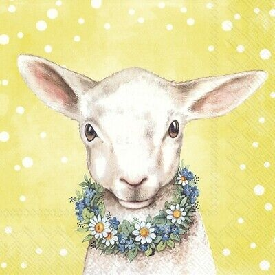 £1.29 • Buy Spring Lamb 4 Napkins 33x33cm Easter Decoupage Paper Table BUY 4 GET 1 FREE