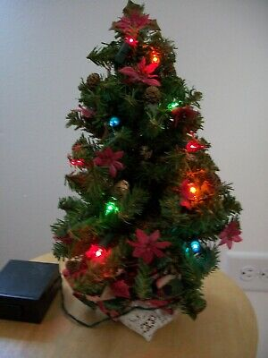 $ CDN12.85 • Buy Vintage 12  Tall CHRISTMAS TREE With Lights Battery Operated