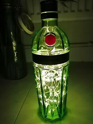 Tanqueray 10 Gin Green Bottle Lamp. Warm White Colour LED.  • 10£