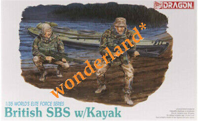 Dragon 3023 1/35 BRITISH SBS W/KAYAK Soldiers 2 Figures Model Kit • 15.56£