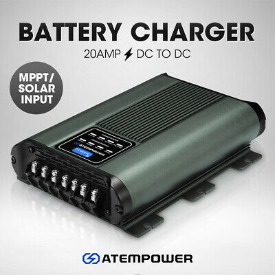 AU229.95 • Buy ATEM POWER 12V 20A DC To DC Battery Charger MPPT System Kit Isolator Dual
