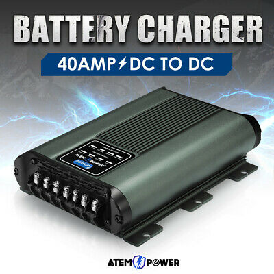 AU279.95 • Buy ATEM POWER 12V 40A DC To DC Battery Charger MPPT System Kit Isolator  Dual
