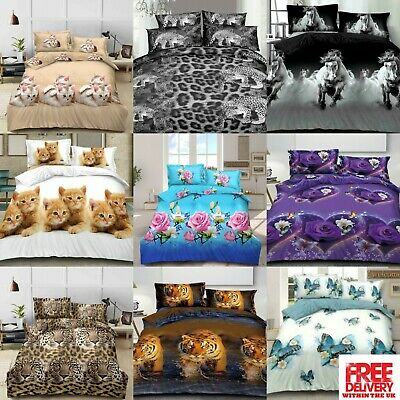 AU44.45 • Buy 3D Effect  Set Duvet Cover Sheet Pillowcase Single, Double, King, Super King