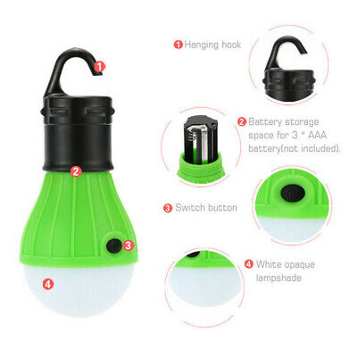 £10.67 • Buy 4Pcs Portable Camping Equipment Lantern Light LED Emergency Waterproof #NT