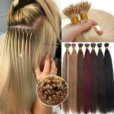 £28.22 • Buy 200S Thick Nano Ring Tip Micro Beads Remy Human Hair Extensions Hairpiece Links